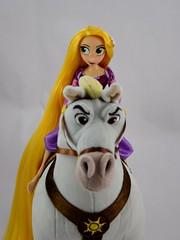 Adventure Rapunzel with Plush Maximus - Tangled: The Series - Disney Store Purchases - Rapunzel Riding Maximus - Midrange Front View (drj1828) Tags: us disneystore tangled tangledtheseries doll 2017 purchase posable adventure 10inch 2d deboxed maximus horse plush 15inch