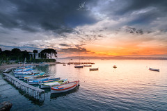 Sunset, City of Antibes, France (Dominique Richeux Photography) Tags: sunset sunrise sun sea sky clouds seascape landscape boat boats mer ocean antibes capd'antibes autofocus