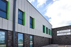 Wigan Fire Station (4) (jamesutherland) Tags: curtainwall curtainwalling glazing glass technal dualseal
