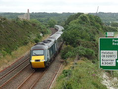 43194 Scorrier (Marky7890) Tags: gwr 43194 class43 hst 1a89 scorrier redruth railway cornwall train cornishmainline
