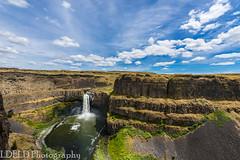 NT3.0091-WP170617_67165 (LDELD) Tags: palouse kahlotus washington palousefallsstatepark sunny clouds river canyon waterfall