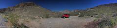 Off road red Jeep on a Desert Road (taharaja) Tags: cactus california deathvalley desert furnacecreek ghosttown jeeping lowestpoint nationalpark offroad oldtown racetrack sealevel zabriskiepoint lakebed movingstones slatflats