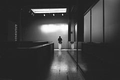 the.dilemma.of.fictionality (jonathancastellino) Tags: architecture toronto figure reflection stand leica q friend corkingallery skylight path floor distillery