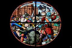vitrail église d'Etrelles (pigosse) Tags: vitrail etrelles église hugenot protestant massacre sacage tuerie 1589