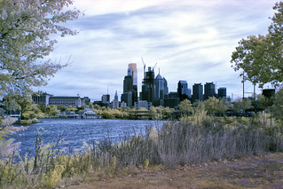 Schuykill, boathouse row, skyline infrared supercolor *****