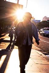 walkin towards me (r.james76) Tags: sydney darlo street sonya7r people australia sun light contrejour