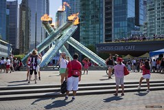 Vancouver Canada 150 (Clayton Perry Photoworks) Tags: vancouver bc canada canadaday canada150 celebration party jackpooleplaza olympic torch flame people