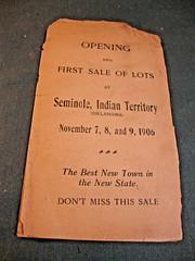 1906 Booklet 1 (Michael Vance1) Tags: state oklahoma seminole platt town history creation