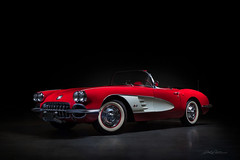 1959 Corvette Convertible (DL_) Tags: vintage classic corvette convertible c2 chevrolet chevy vette red sportscar olympusomdem5mkii