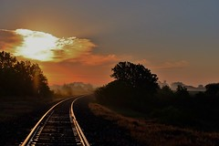 Traveling Thru Kansas (Tim @ Photovisions) Tags: kansas dawn tracks