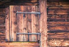 Swiss wood (kimbenson45) Tags: alpine alps berneseoberland schweiz suisse swiss switzerland brown chalet color colour hinges house lines metal planks rich warm window wood wooden