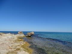 Azzurro (RoBeRtO!!!) Tags: rdpic blue sky water sea rocks seascape shoreline cielo azzurro mare acqua scogli macari sicily sonyhx400v