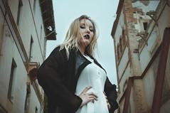 (Mishifuelgato) Tags: alicia preventorio dark oscuridad dama negra black white alicante photography fotografía retrato portrait nikon d90 50mm 18 edificios buildings ancient antiguo spain españa lady