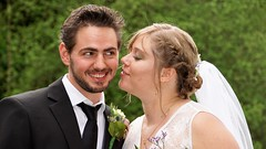 My nephew enjoys his bride :-) (janvandijk01) Tags: maarten anne wedding trouwerij bruidegom bruid bride groome