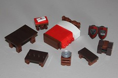 Furniture Tutorial #7 (soccersnyderi) Tags: lego furniture bed design technique tutorial bench table