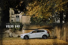 New Volvo V40 (simonpeeterss) Tags: v40 volvo sweden car cars fall parking product volvocars swedish svenska auto voiture leafs season winter yellow warm autoumn herfst mechelen belgium belgië advertise advertisement green special color unique vert mintgreen mint trees tree herfts autumn