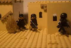 Valley of the Shadow of Death (jonahfox1) Tags: lego military scene moc brickarms m4 ak47 desert special forces seal spec ops operator cod bf4