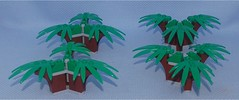 Triple Trees (Small), Revised (Mantis.King) Tags: lego legogaming moc mechaton microscale mobileframezero mf0 mfz scenery terrain wargames
