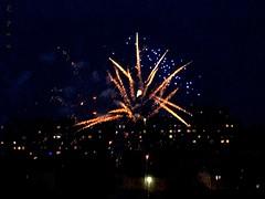 phoenix night in the city [explored] (Ola 竜) Tags: firecrackers city fireworks illuminations night darksky skyline lights firework buildings windows citylights earlysummer lightshow
