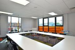 Wigan Fire Station (22) (jamesutherland) Tags: curtainwall curtainwalling glazing glass technal dualseal