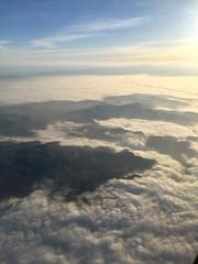 Flying into LA (NettyA) Tags: usa travel appleiphone6 california sky clouds viewfromplane sunrise