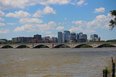 Rosslyn, VA & the Memorial Bridge (Phil Spell) Tags: canon outdoor skyline river bridge buildings highrises clouds water architecture washingtondc virginia rosslynva northamerica usa potomacriver memorialbridge cityscape city unitedstates