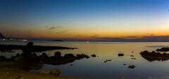Spiaggia di Barcarello - Palermo (VincenzoGuasta) Tags: palermo barcarello sferracavallo mare tramonto sea sun luna isola