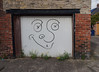 Heaton garage door (David Pretswell.) Tags: newcastleupontyne heaton streetart backlane garagedoor