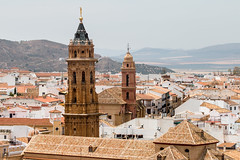 The Two Towers (Keith in Exeter) Tags: two towers antequera andalusia spain church iglesia sansebastián saintsebastian sanagustín saintaugustin town city architecture landscape roof mountain outdoor monument ancient