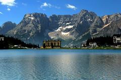 Sorapiss from Lake Misurina (annalisabianchetti) Tags: misurina sorapiss mountains montagne dolomites dolomiti veneto italy paesaggio landscapes water travel lake