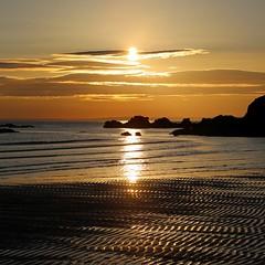 Tide going out (alison2mcewan) Tags: ayrshire westcoast scottish scotland beach tide water coast sunset