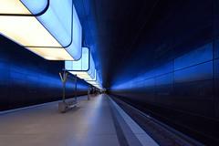 Blue (Nikonphotography D750) Tags: cityofhamburg igershamburg hamburgmeineperle hamburg nikonphotography nikond750 nikon explore inexplore ubahn ubahnhamburg hafencity universität hafencityuniversität urban underground subway blue bluelights intheunderground