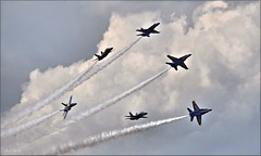 Blues: Delta Break (Images by A.J.) Tags: aircraft aviation airshow us navy blue angels westmoreland county latrobe laurel highlands pennsylvania military airplane 2017
