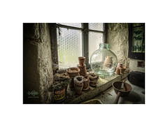 The old potting Shed... (silver/halide) Tags: pottingshed johnbaker cornwall kernow poldark godolphin godolphinhouse nationaltrust gardening oldbuilding oldschool oldworld flowerpots decay