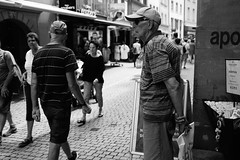 A waiting man (stefankamert) Tags: stefankamert street man people waiting blackandwhite blackwhite noir noiretblanc monochrome dof fujifilm fuji x100s x100 mirrorless