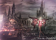Fire Fairy (Poppys_Second_Life) Tags: popi popikone popikonesadventuresin2l popisadventuresin2l 2l secondlife virtualphotography poppy picsbyⓟⓞⓟⓟⓨ sl fire firefairy wings