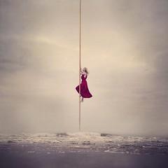 Go the Distance (Lieke Anna) Tags: selfportrait conceptual fine art dark change distance worth way ladder life hercules aurora went too far go belong surreal fairytale levitation