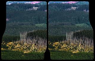 Mount Brocken lookout 3-D / CrossEye / Stereoscopy / HDR / Raw
