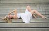 Sarah (topanh.com) Tags: arm frau kleid linien linz outdoor portrait porträt sarah stiege stufen treppe umgebungslicht urfahr avaliablelight dress girl liegen liegend naturallight portraiture stairs weis white woman oberösterreich österreich at