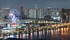 Coast with Ferris wheel (sapphire_rouge) Tags: tokyobay お台場 東京 高層ビル coast nightview 湾岸 臨海副都心 japan telecomcenterbuilding テレコムセンター seaside