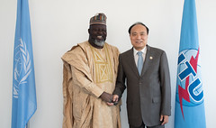 H.E Mr. Abdur-Raheem Adebayo Shittu, Minister of Communications of Nigeria and Mr. Houlin Zhao, Secretary-General, ITU.