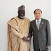 H.E Mr. Abdur-Raheem Adebayo Shittu, Minister of Communications of Nigeria  and Mr. Houlin Zhao, Secretary-General, ITU.