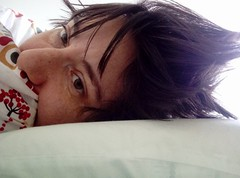 I couldn't sleep (MFinChina) Tags: mf insomnia sleepless messyhair white