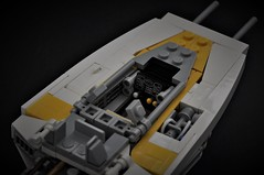 BTL-A4 Y-wing - Cockpit Detail (Inthert) Tags: lego moc star wars btl a4 y fighter rebel alliance gold squadron koensayr manufacturing greebling rogue one new hope wing cockpit interior controls console space
