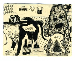 """Page spread from """"Wastedland"""" 2, a 2016 mini-zine by Andrew H. Shirley and the 907 crew (fotoflow / Oscar Arriola) Tags: zine zines 2017 tags street art graffiti artist 907 avoid smells us usa united states america american"""