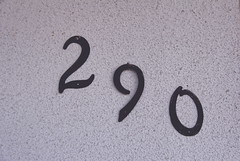 17062017 (Lauryn Crum) Tags: 2 9 290 house number numbers white black blackandwhite