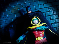 Father and son (metaldriver89) Tags: dcicons icons dc arkham knight arkhamknight arkhamcity dccollectibles cowl batman darkknight dark custom cloth cape customcape dcuc universe classics batmanunlimited legacy unlimited actionfigure action figures toys mattel matteltoys new52 new 52 brucewayne bruce wayne acba articulatedcomicbookart articulated comic book art movie the thedarkknight thedarkknightrises dccomics batsignal bat signal gotham gothamcity actionfigures figure toyphotography toy rebirth damian damianwayne robin son father