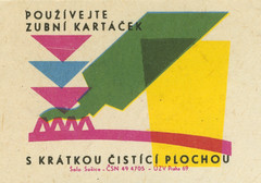 czechoslovakian matchbox label (maraid) Tags: teeth clean brush brushing health advice czechoslovakia czechoslovakian matchbox label packaging toothpaste toothbrush cup