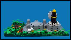 Nature Watches (Karf Oohlu) Tags: lego moc vignette animals missilesilo missilelaunch rabbit frog sheep hedgehog
