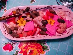 Giardinara Plus Daikon and Carrot Pickle (prima seadiva) Tags: carrots dinner pickles radish shiso appetizer restaurantware restaurantchina shenango